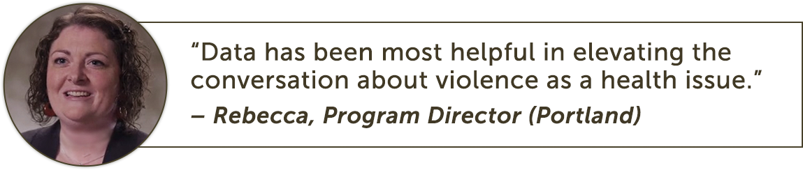 Data has been most helpful in elevating the conversation about violence as a health issue.