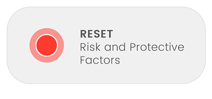 View all risk and protective factor button(wide) selected